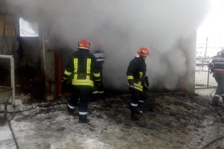 CLUJ: Incendiu la o gospodărie. De la ce au pornit flăcările FOTO