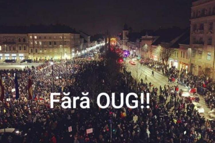 """Clujenii chemați să iasă din nou în stradă: """"Trebuie să luptăm!"""""""
