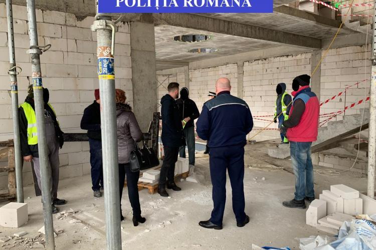 Controale pe șantierele din Cluj-Napoca. Pentru ce au dat amenzi polițiștii FOTO