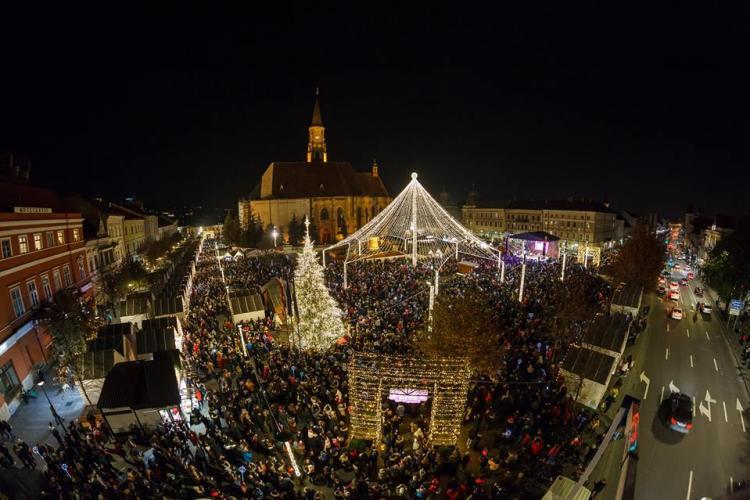 Concerte de colinde populare, de Crăciun, în centrul Clujului. Vezi care este programul