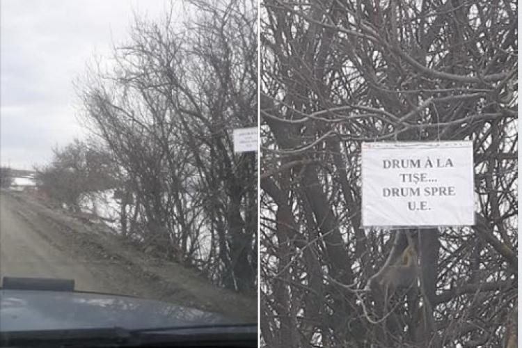 Alin Tișe, ironizat și TAXAT pentru starea drumului de la Săvădisla la Băișoara - FOTO
