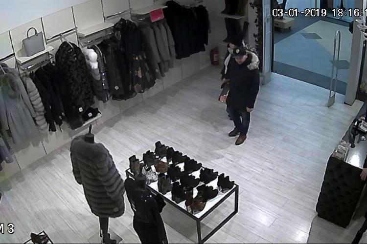 Cluj: Cât tupeu pot avea hoții! Au furat o haină de blană de 2.000 de lei - VIDEO