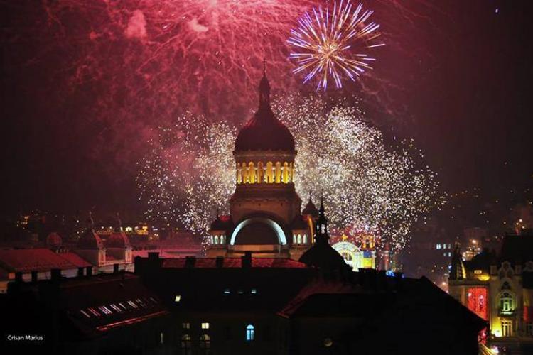 Focul de artificii din Cluj, cel mai frumos din România. La multi ani, clujeni! - VIDEO