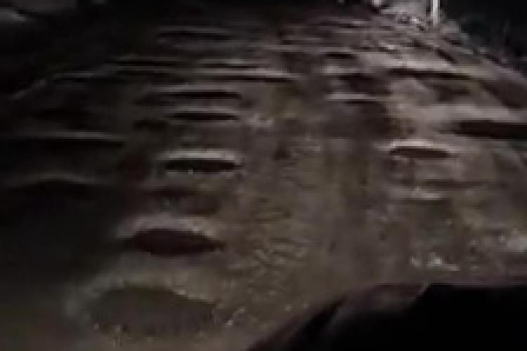 Drum în Feldioara, comuna Cătina, ianuarie 2019. Rușine să le fie autorităților - VIDEO