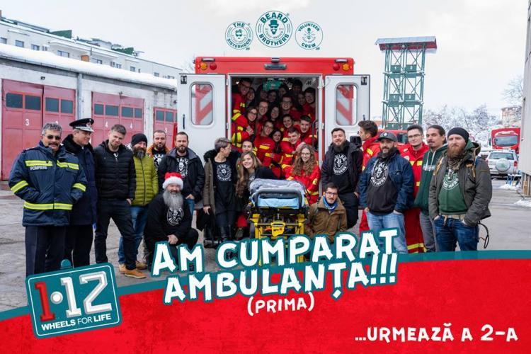 """""""Bărboșii"""" de la Beard Brothers au cumpărat prima ambulanță SMURD pentru ISU Cluj FOTO"""