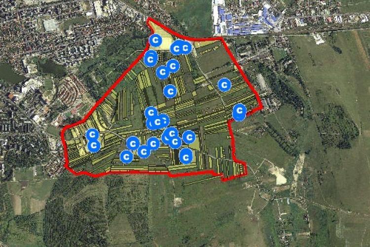 Primăria Cluj vrea să realizeze PUZ-ul zonei Sopor. Cum pot identifica proprietarii parcelele