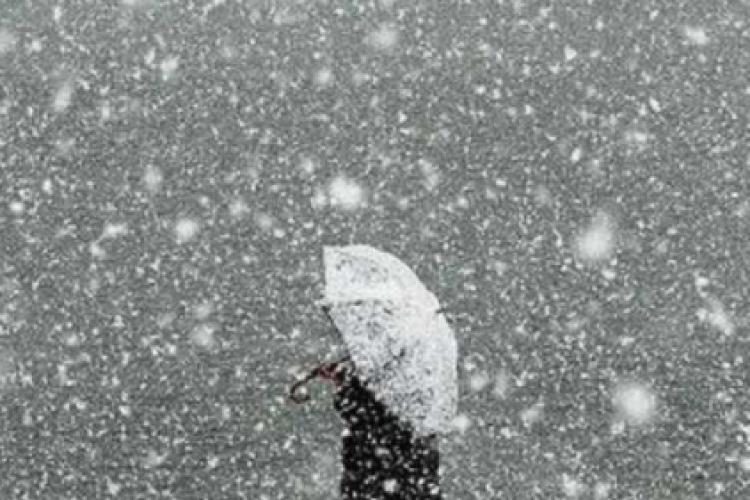 Ger și ninsoare la Cluj. Ce anunță meteorologii