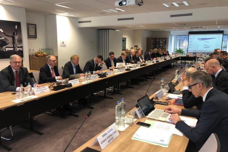 Conducerea Aeroportului Cluj, la ședința Consiliului Director al ACI Europe