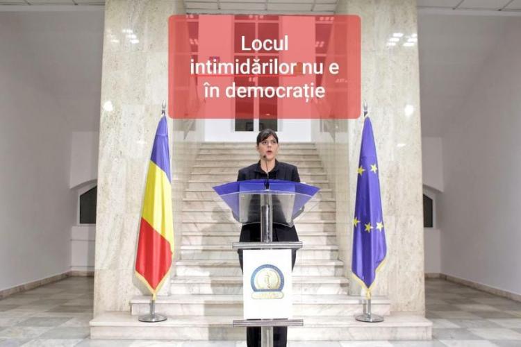 Cluj: Protest de susținere a Laurei Codruța Kovesi în centrul orașului