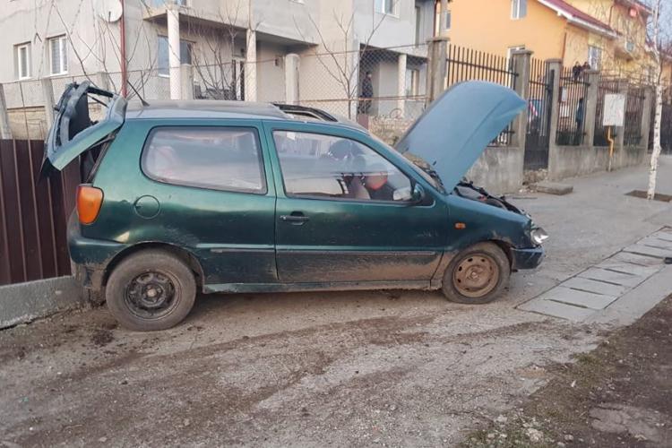 CLUJ: Căruțaș băgat în spital de un șofer BEAT la volan și fără permis FOTO