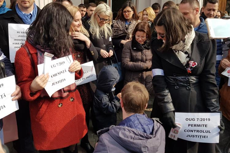 Judecătorii din Cluj vor protesta și săptămâna viitoare - VIDEO