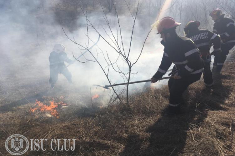 Peste 20 de incendii de vegetație la Cluj, într-o singură săptămână! Ce recomandă pompierii FOTO