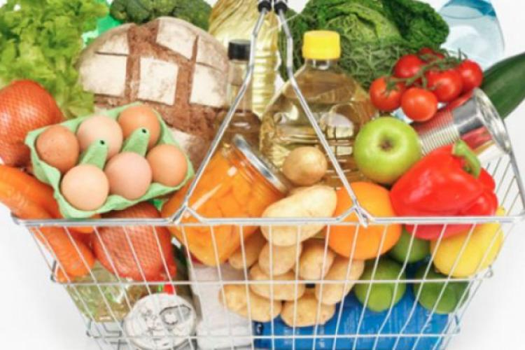 Alimentele s-au scumpit în ianuarie 2019 cu 3,77%, față de ianuarie 2018