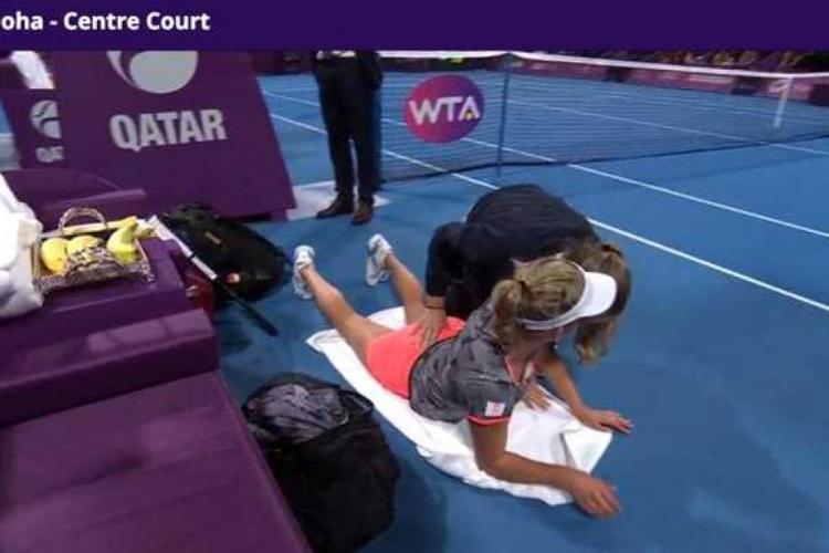 Elise Mertens făcută praf după finala cu Simona Halep. E acuzată că s-a prefăcut