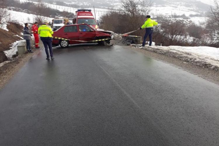CLUJ: Accident cu o victimă, cauzat de un șofer de 76 de ani FOTO
