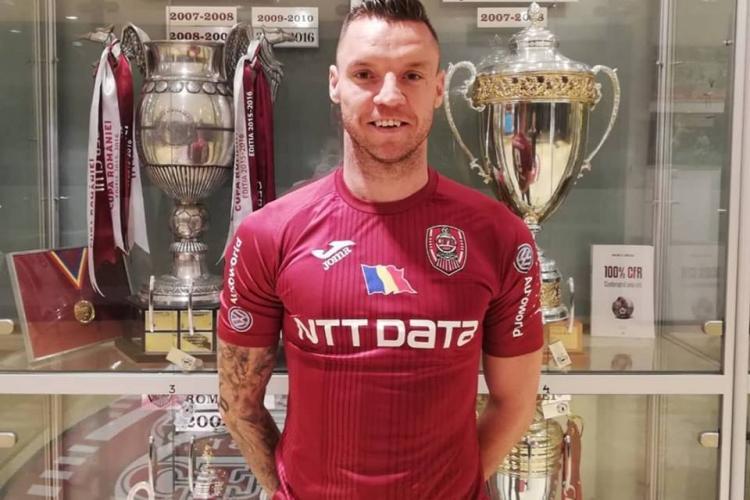 Cristi Bud a revenit la CFR Cluj. Atacantul cu 30 de goluri în 92 de partide - FOTO