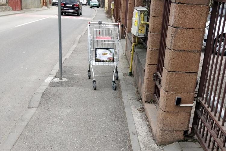 Încă în Cluj-Napoca e proastă creștere! A plecat cu căruciorul de cumpărături acasă - FOTO