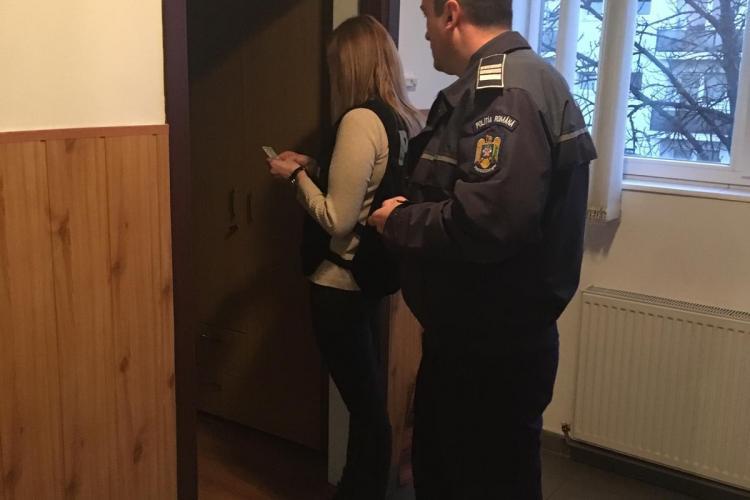 Acțiuni ale Poliției în căminele de studenți din Cluj FOTO