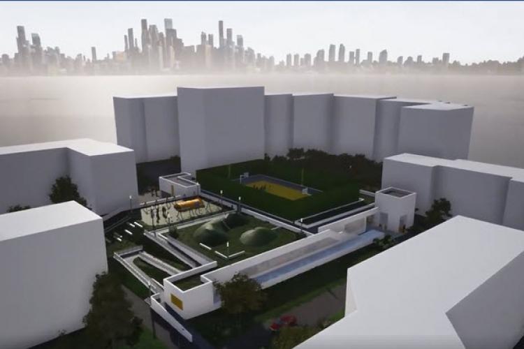Simulare VIDEO cu noul parking din Mănăștur! Pe fundal apar zgârie norii din New York