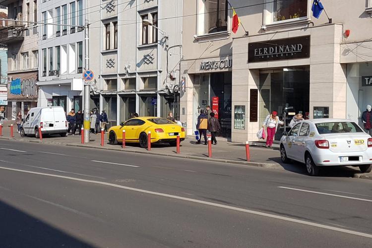 Cluj - Când ai dat toți banii pe bolid și nu ai bani de parcare, plătești amendă - FOTO