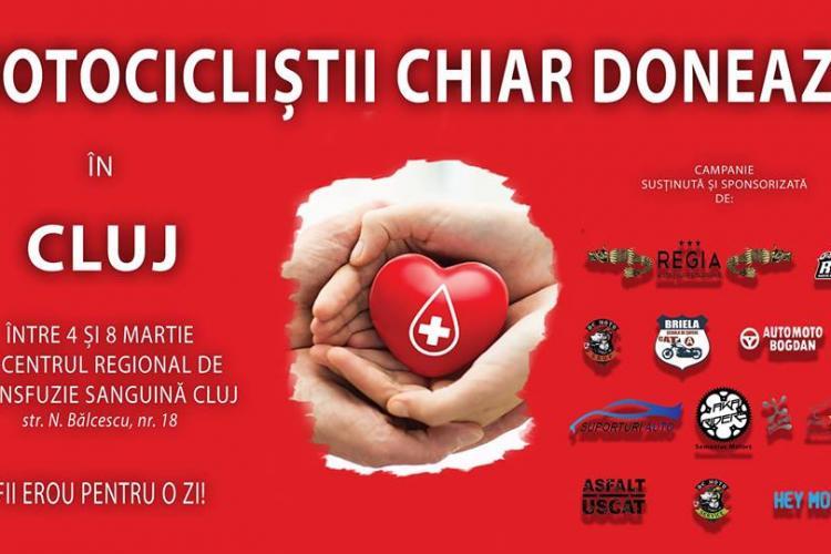 Motocicliștii clujeni donează sânge