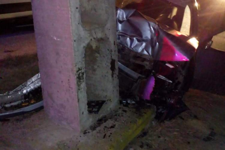 Accident grav la Iclod produs de un șofer beat din Bistrița - FOTO