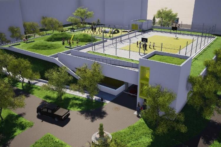 Se face un nou parking în Mănăștur, dotat și cu terenuri de sport. Când încep lucrările FOTO