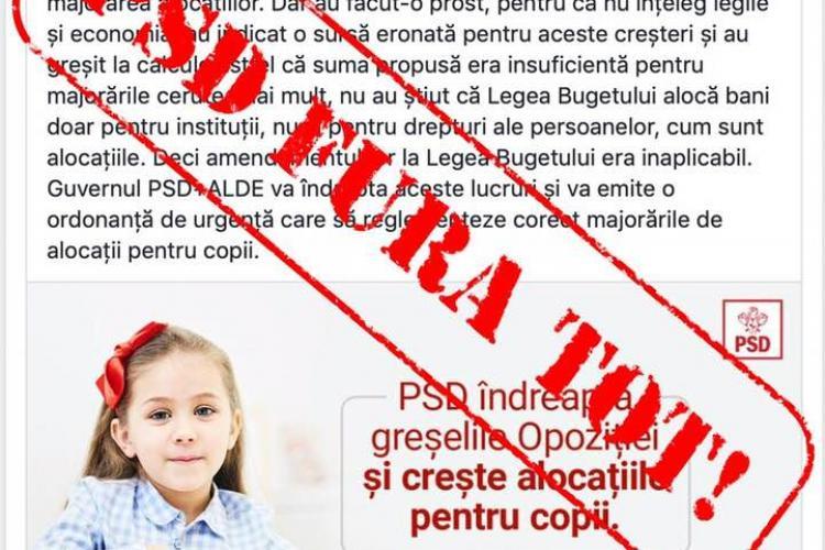 Deputatul PNL, Adrian Oros, acuză PSD că își asumă prin FURT majorarea alocațiilor pentru copii