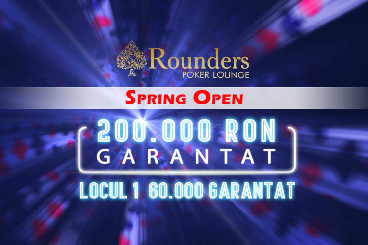 Rounders Spring Open Incepe la Cluj – Un turneu de poker cu 200.000 RON Garantat (P)