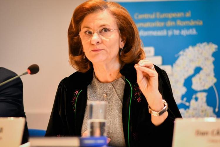 Maria Grapini a asasinat limba engleză la o conferinţă de presă organizată la Strasbourg