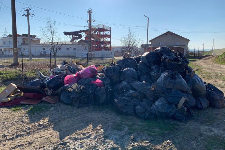 Au adunat gunoaiele TUTUROR de pe malul barajului din Florești. Și-au sacrificat sâmbăta pentru confortul tuturor - FOTO