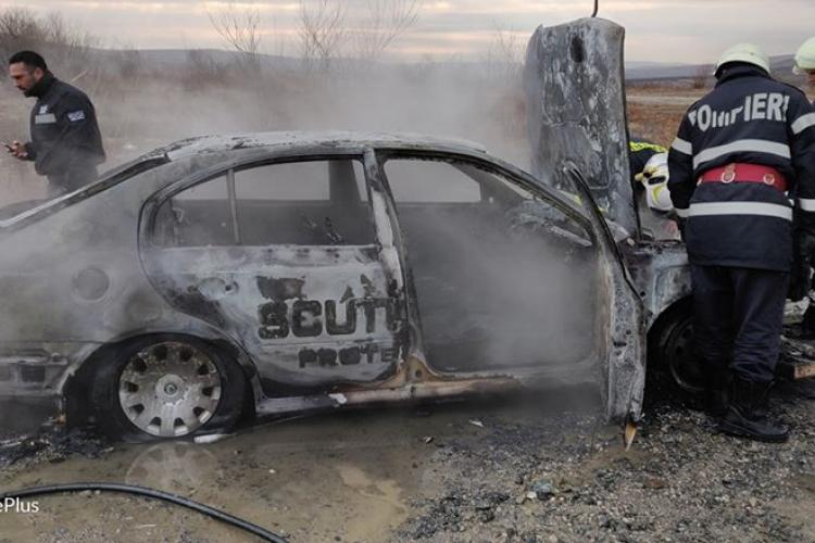Mașina unei firme de pază s-a făcut SCRUM pe Autostrada Transilvania FOTO