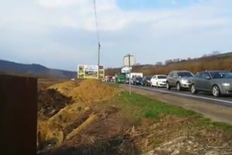 Dezastru în Baciu. Coada de mașini era până la Sun Garden - VIDEO