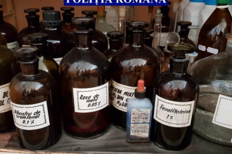 Sute de mii de litri și peste 1.100 de tone de substanțe periculoase, confiscate de polițiști FOTO