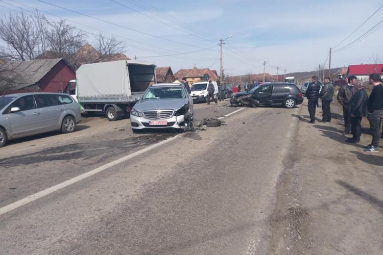 Accident la Cămărașu cu mai multe mașini implicate - FOTO