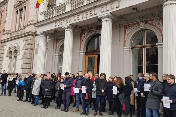 Magistrații protestează din nou, luni, la Cluj