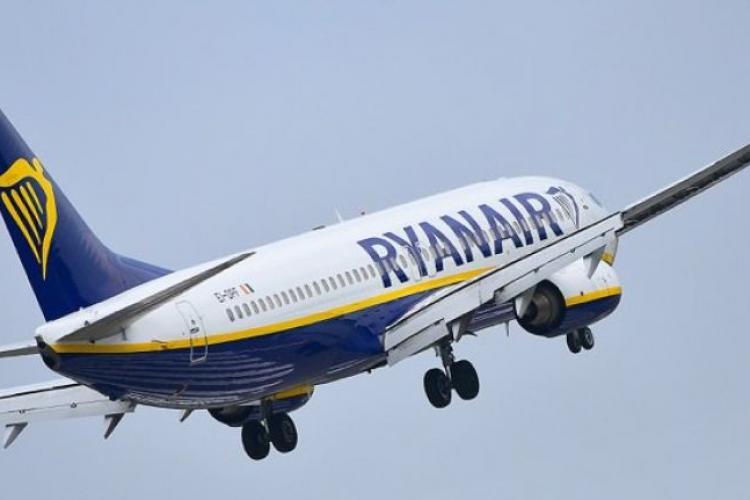 Ryanair va zbura de la Cluj, din 2 aprilie 2019