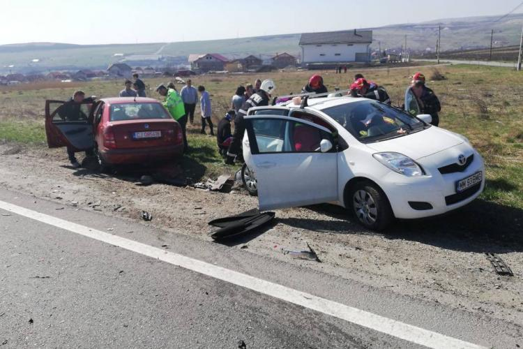 Accident cu cinci victime pe un drum din Cluj FOTO