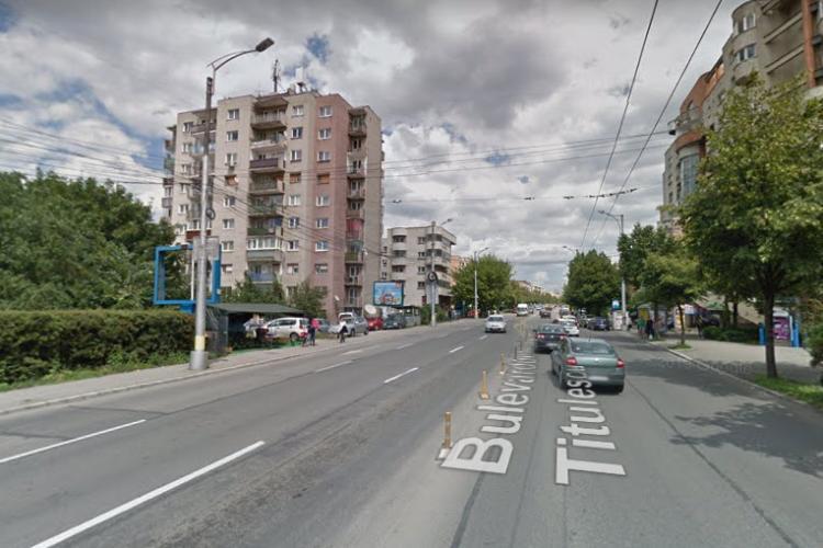 Pe B-dul Nicolae Titulescu apare o bandă dedicată pentru autobuze și troleibuze