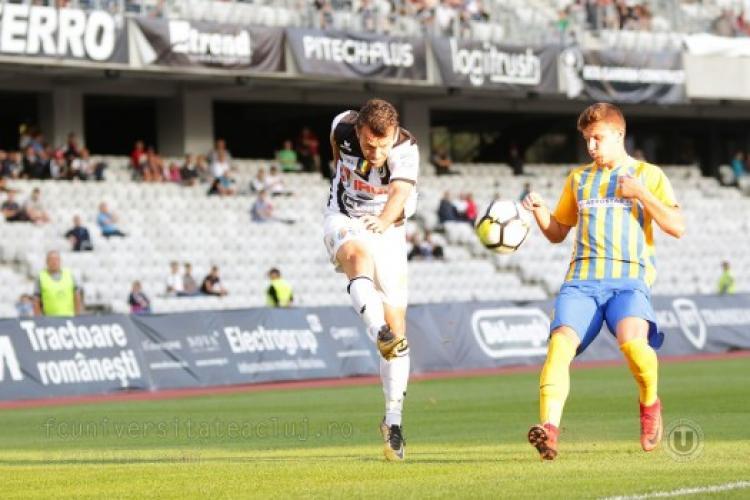 U Cluj a spulberat Daco-Getica, scor 6-2. Lobonț e salvat de revenirea lui Goga