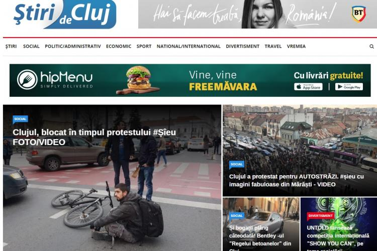 Stiri de Cluj, cel mai citit ziar din Cluj. Suntem lideri de audiență și credibilitate. Vă mulțumim!