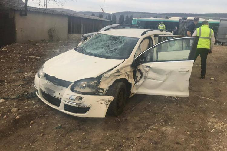 Minor lovit de mașină chiar pe trotuar, în Florești. Șoferul nu a putut evita impactul FOTO