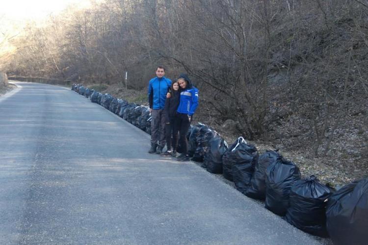 Clujenii au igienizat zona lacului Tarnița - FOTO