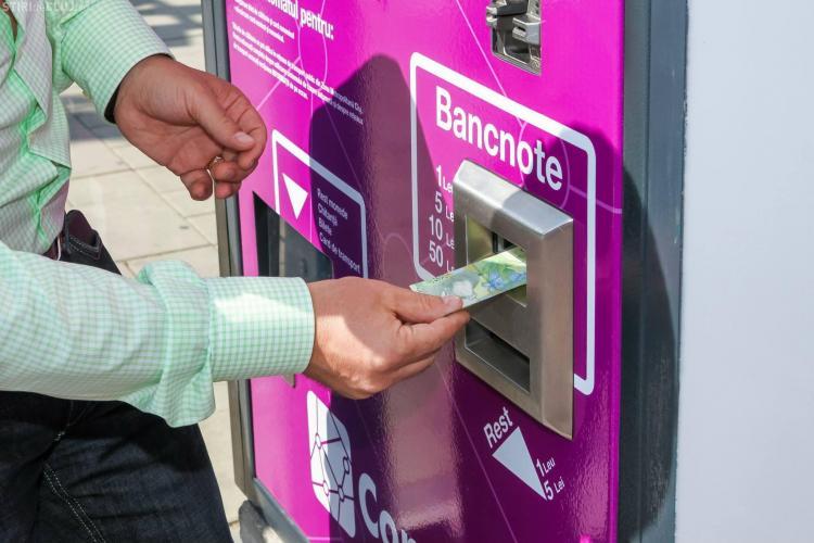 Automatele de bilete din Cluj eliberează acum și bilete pentru două călătorii