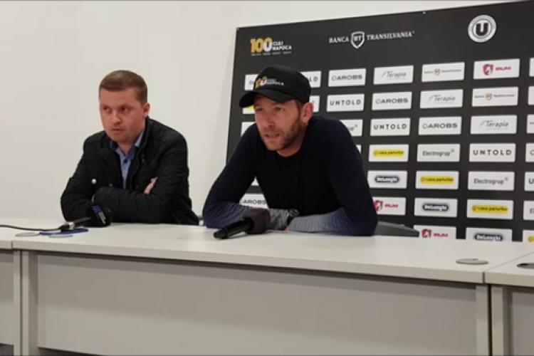 Lobonț despre meciul U Cluj - Mioveni: U Cluj nu e Barcelona. Nu mă gândesc să plec. Viața sportivă e 24 de ore din 7 zile - VIDEO