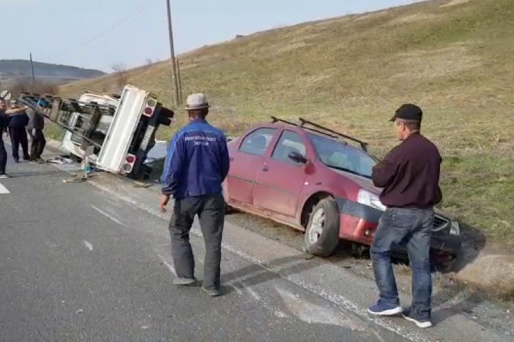 Accident grav pe DN 1F, pe sensul Cluj-Napoca - Zalău - VIDEO