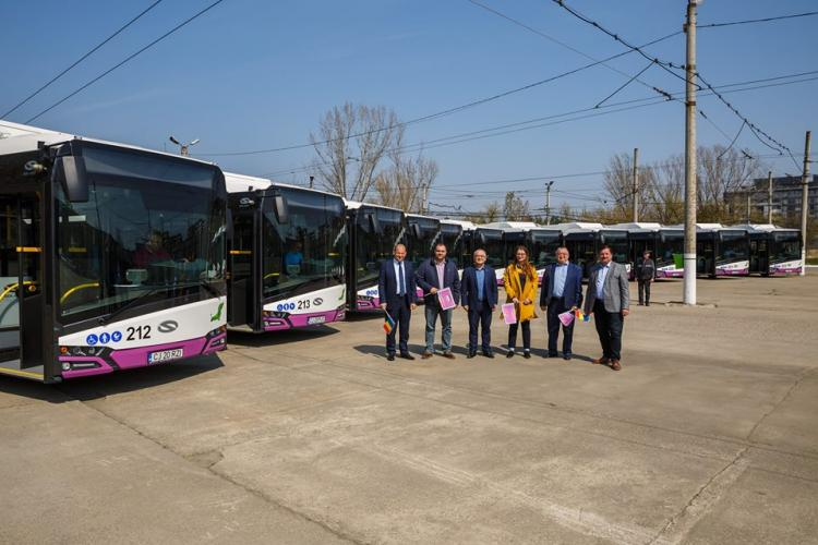 Alte 11 autobuze electrice puse în circulație la Cluj-Napoca FOTO