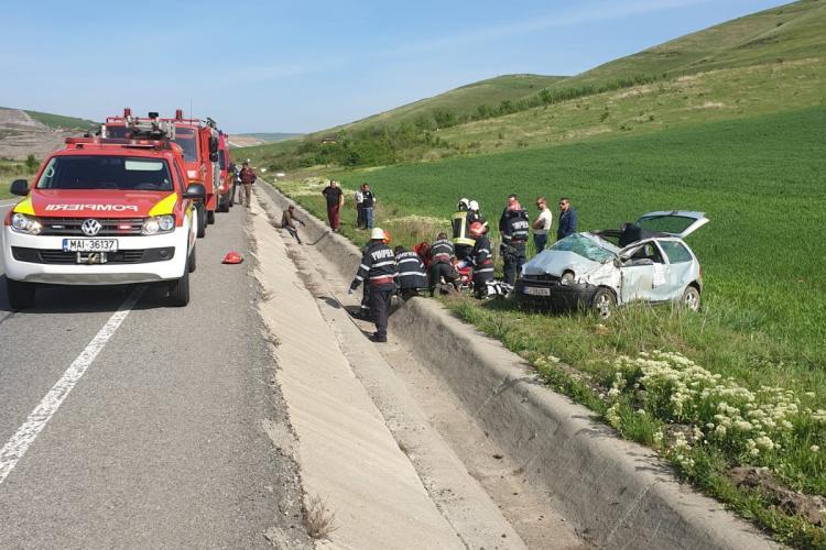 Accident grav pe Varianta Ocolitoare Vâlcele-Apahida FOTO