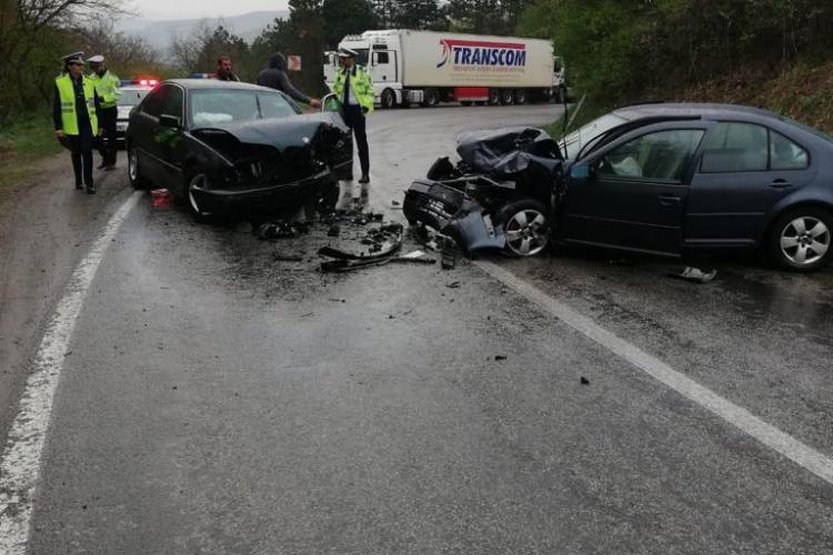 Accident cu 6 victime pe un drum din Cluj FOTO/VIDEO