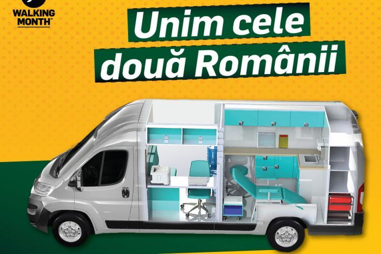 Walking Month strânge bani pentru prima ambulanță socială din Transilvania. Va deservi aproximativ 10.000 de persoane